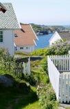 Hus vid havet Fotografering för Bildbyråer