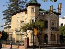 Hus XIX Århundrade-malaga-Andalusia-Spanien Arkivfoton