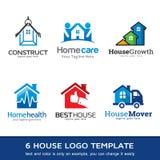 Husaffär Logo Template Design Vector Stock Illustrationer