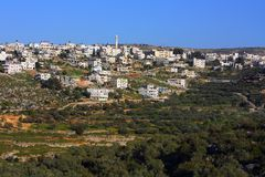 Husan Palestinian town in Bethlehem Governorate Royalty Free Stock Photo