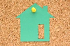husanmärkningsstolpe Fotografering för Bildbyråer