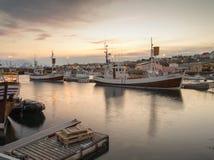 Husavik-Hafen Island Stockbilder