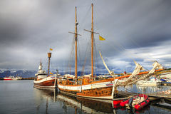 Husavik harbor Royalty Free Stock Image