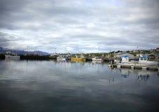 Husavik harbour stock photography