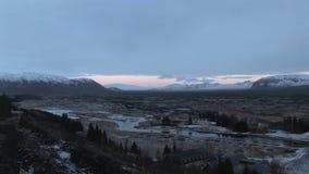 Husavik, Islandia, panorama en invierno almacen de video