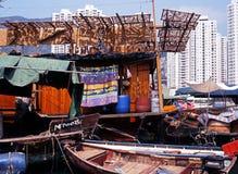 Husbåt Hong Kong royaltyfria foton