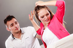 Husband apologizing wife. Heartbroken woman. Stock Images