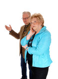 Husband arguing with his wife. Stock Photo