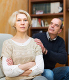 Husband asking wife for forgiveness Stock Photography