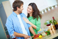 Husband cooking Royalty Free Stock Photo