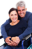 Husband disabled wife Stock Image
