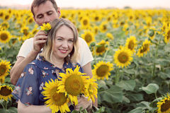 Husband and his pregnant wife Stock Images