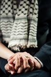 Husband holds wife's hand Royalty Free Stock Images