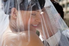 Husband Kissing His Wife Stock Photos