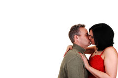 Husband kissing wife. Royalty Free Stock Image