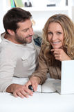 Husband looking at wife Royalty Free Stock Photos