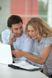 Husband looking at wife Royalty Free Stock Image