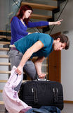 Husband moving out Royalty Free Stock Image