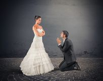 Husband pray Royalty Free Stock Image