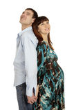 Husband and pregnant wife Royalty Free Stock Photo