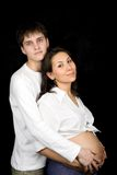Husband and pregnant wife Stock Photography
