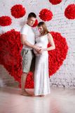 Husband and the pregnant wife Stock Images