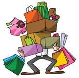 Husband Shopping Stock Image
