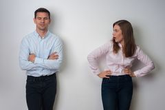 Portrait of man and woman stock photography