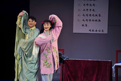 The husband to sing and the wife to follow-Jiangxi OperaBlue coat Royalty Free Stock Photography