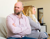 Husband turned away from his wife Stock Image