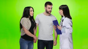 Husband and wife came to the doctor for the results stock video footage