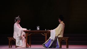 "Husband and wife drink-Kunqu Opera""Madame White Snake"" stock footage"