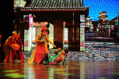 "Husband and wife fight-Large scale scenarios show"" The road legend"". The drama about a Han Princess and king of Tibet Song Xan Gan Bbu and the story stock image"