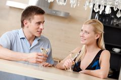 Husband and wife have dating dinner Royalty Free Stock Image