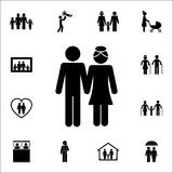 Husband and wife icon. Detailed set of Family icons. Premium quality graphic design sign. One of the collection icons for websites. Web design, mobile app on Royalty Free Stock Photos
