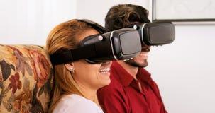 Husband Wife Man Woman Playing Virtual Reality VR Game Stock Photography