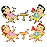 Husband and Wife Mascot the summer holidays. Home and Family Cha Royalty Free Stock Image