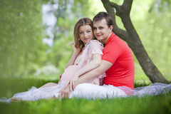 Husband and wife maternity expecting a child or baby Royalty Free Stock Photos