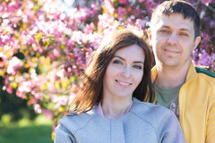 Husband and wife in nature Royalty Free Stock Image