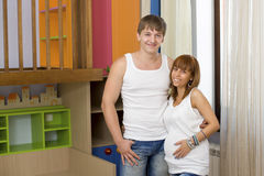 Husband and wife in the nursery Royalty Free Stock Photography
