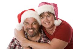 A real Christmas Couple. stock photography