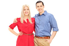 Husband and wife posing Royalty Free Stock Images