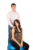 Husband, wife, pregnant Royalty Free Stock Photos