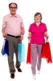 Husband and wife shopping Royalty Free Stock Image