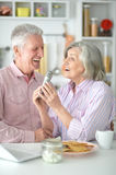 Husband and wife singing songs Stock Photography
