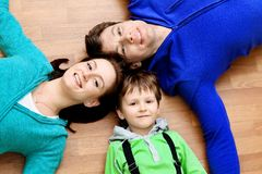 Husband, wife and son Stock Photo