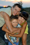 Husband, wife and son Stock Photography