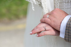 Husband and wife wedding Bands Royalty Free Stock Images