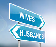 Husbands and wives. Stock Photo