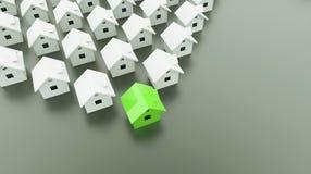 Husbegrepp ett är grönt Arkivbild